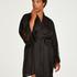Lace Satin Kimono, Black