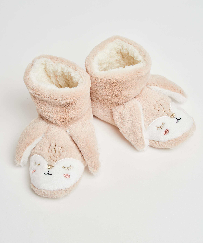 Rabbit slippers, Beige, main