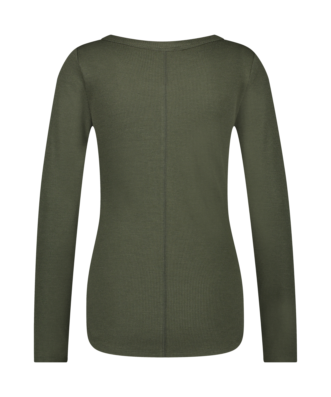 Long-Sleeved Pyjama Top , Green, main