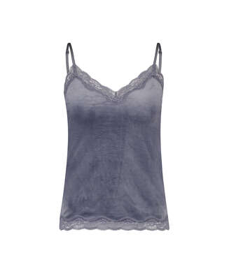 Velvet lace cami, Grey