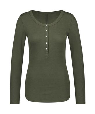 Long-Sleeved Pyjama Top , Green