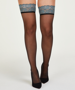 15 Denier Lace stay-up, Green
