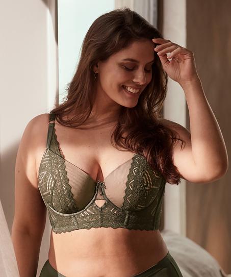 Rabella padded longline underwired bra I AM Danielle, Green