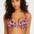 Mirage padded underwired bikini top, Pink