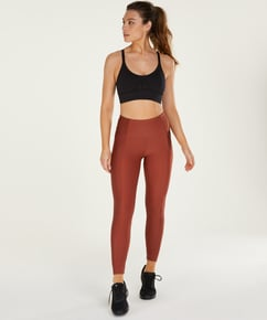 HKMX High waisted sports leggings Shine On, Red