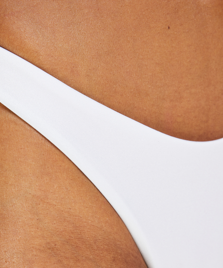 Lola high leg bikini bottoms, White