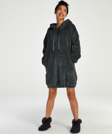 Snuggle Fleece Dress, Green