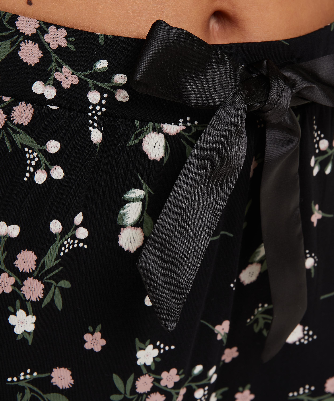 Jersey pyjama bottoms, Black, main