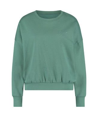 Brushed Long Sleeved Boyfriend Top, Green