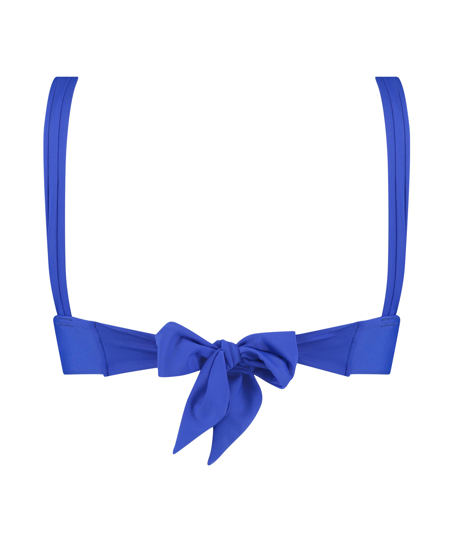 Deluxe Triangle Bikini Top, Blue, main
