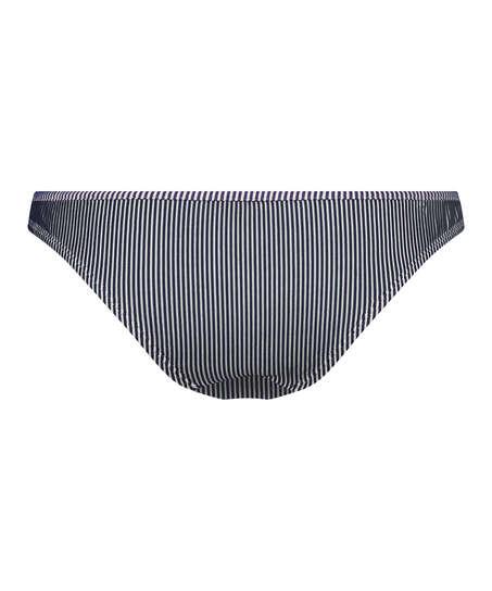 Ruffle Stripe Rio bikini bottoms, Blue