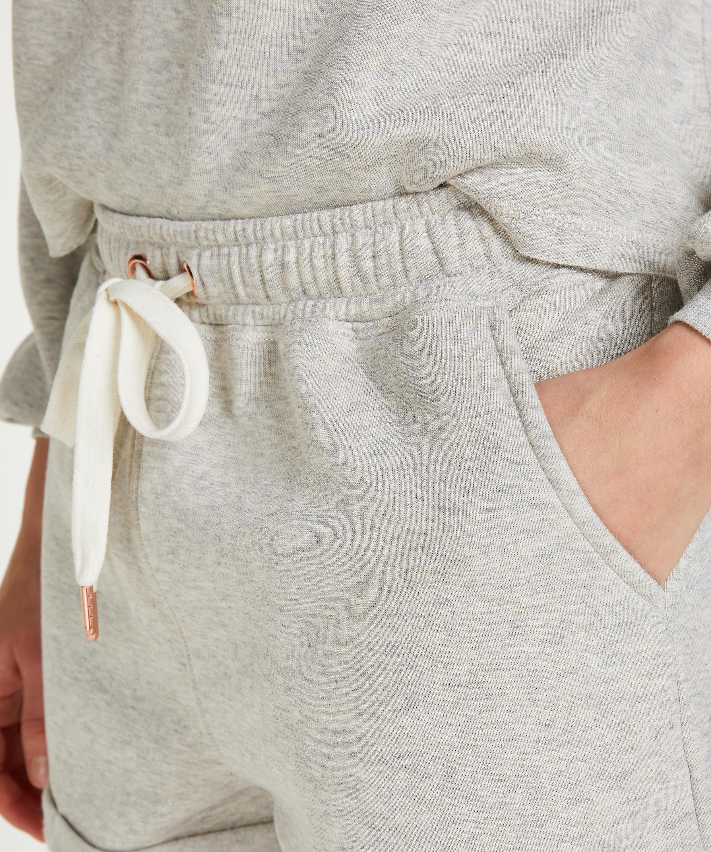 Sweat Brushed shorts, Beige, main
