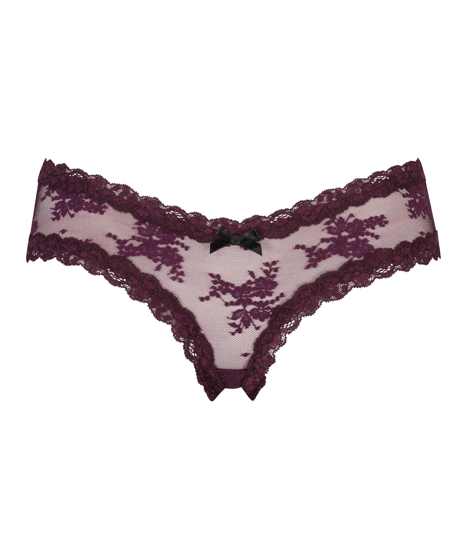 V-shaped Brazilian mesh, Purple, main