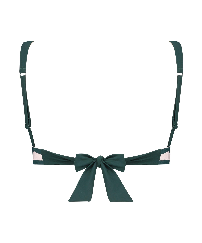 Pinewood triangle bikini top, Green, main