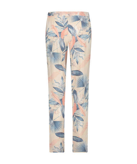 Petite Woven pyjama bottoms, Beige