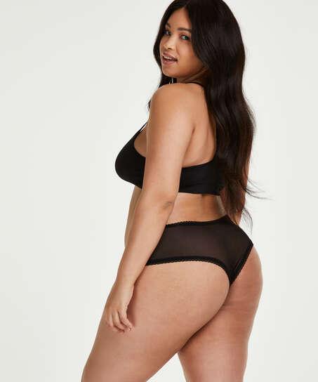 Franzi V-shaped Brazilian Curvy, Black