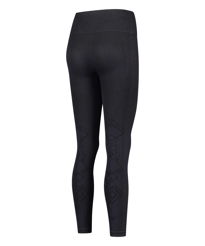 HKMX High waisted seamless sport legging Flex, Black, main