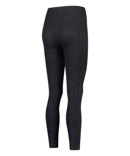 HKMX High waisted seamless sport legging Flex, Black