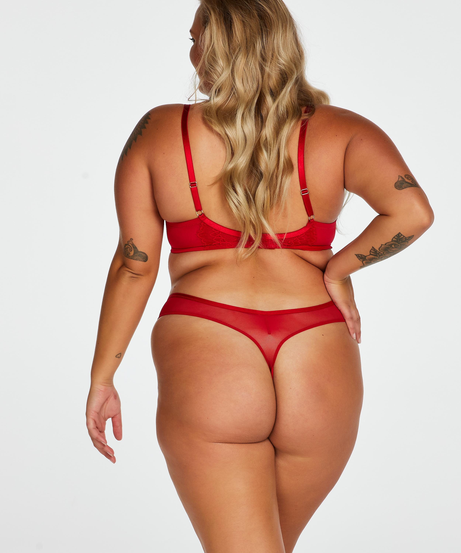 Rya non-padded underwired bra, Red, main