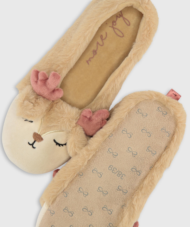 Ballerina slippers, Beige, main