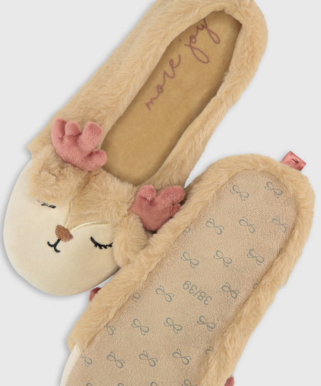 Ballerina slippers, Beige