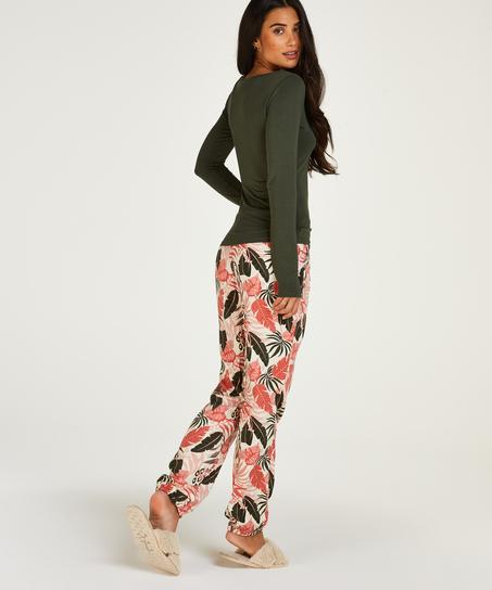 Tall Woven pyjama bottoms, Beige