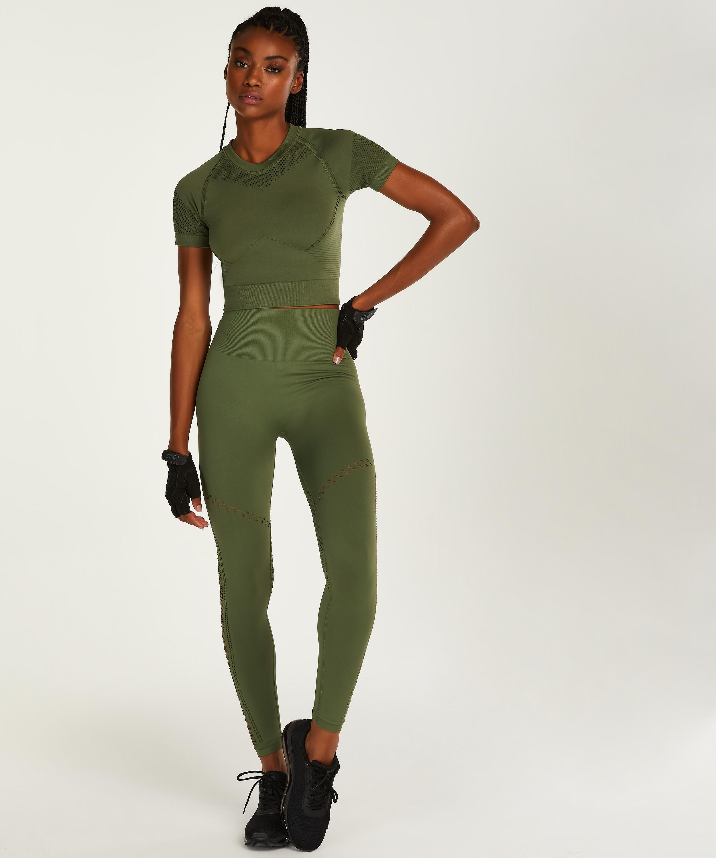 HKMX Karma Seamless High Waisted Legging, Green, main