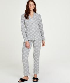 Boyfriend Heart Pyjama Set, Grey