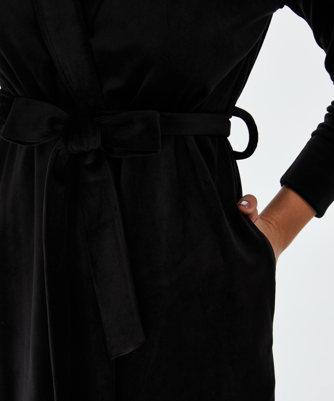 Velvet Bathrobe, Black, main