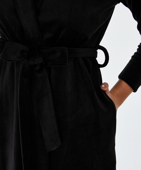 Velvet Bathrobe, Black