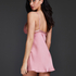 Satin Holly slip dress, Pink
