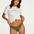 Invisible cotton thong, Green