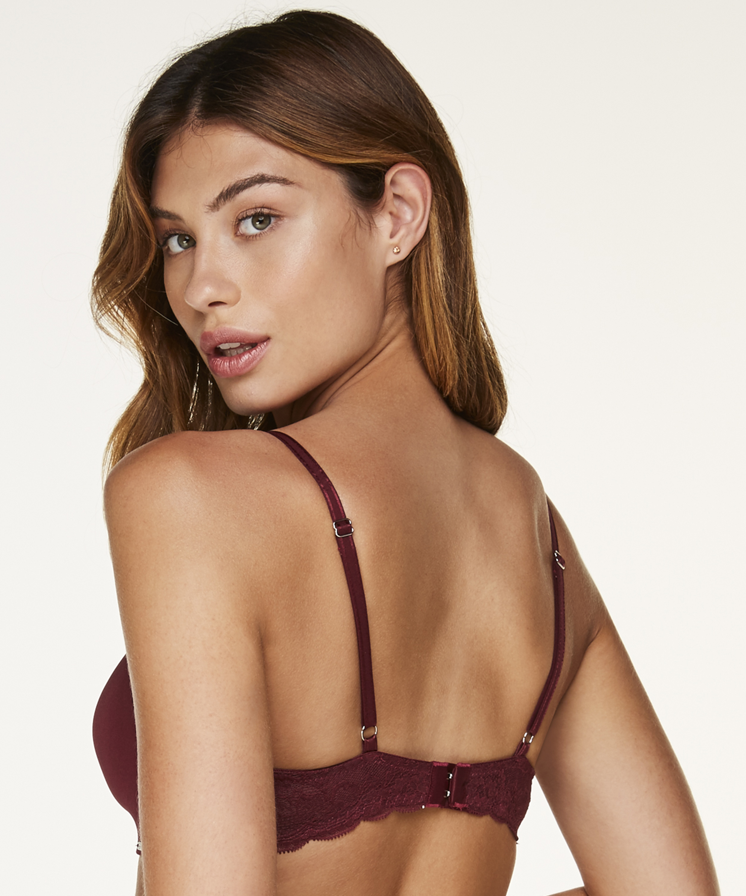 Hope Padded Non-Underwired Bra, Red, main