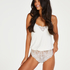 Jersey Lace Teddy, White