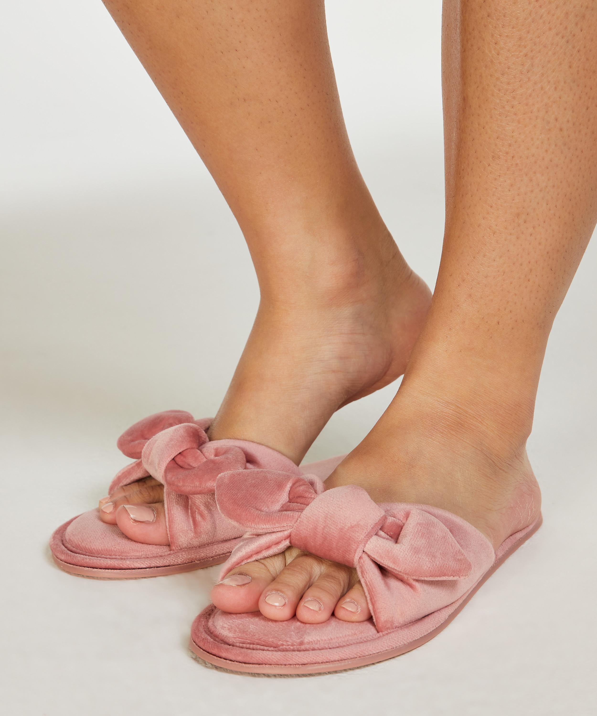 Velours Knot Slipper, Pink, main