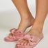 Velours Knot Slipper, Pink