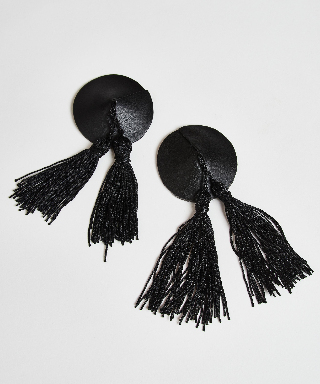 Tassel private nipple cover, Black, main