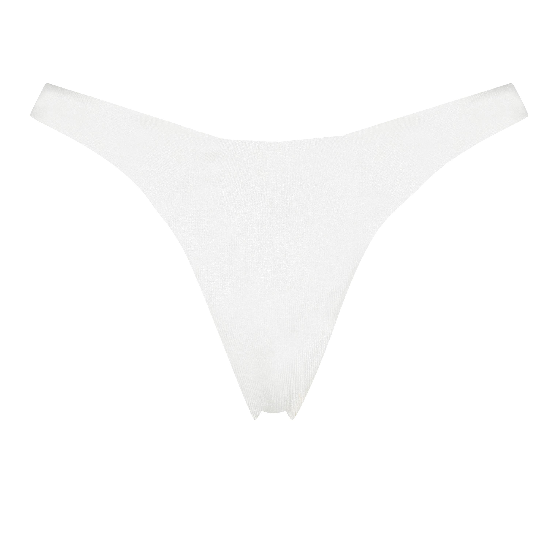 Lola high leg bikini bottoms, White, main