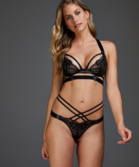 Venus non-padded underwired bra, Black