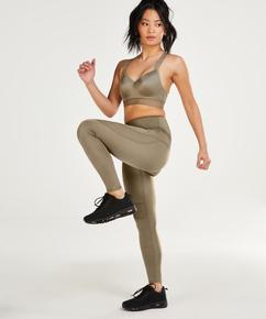 HKMX High-waisted sports leggings Shine, Green