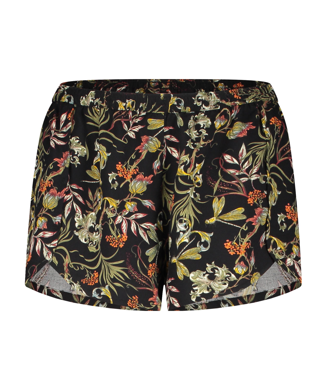 Pyjama shorts, Black, main