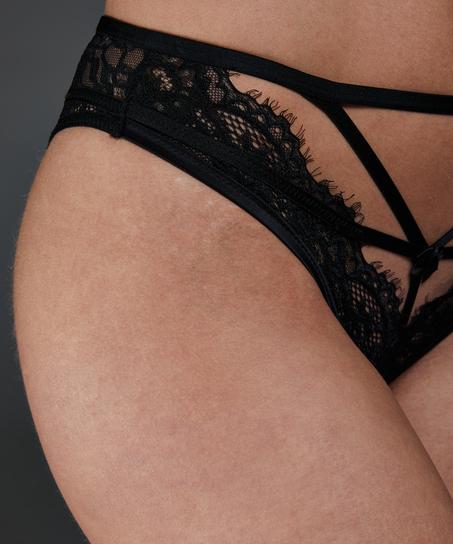 Eve Brazilian with open crotch, Black