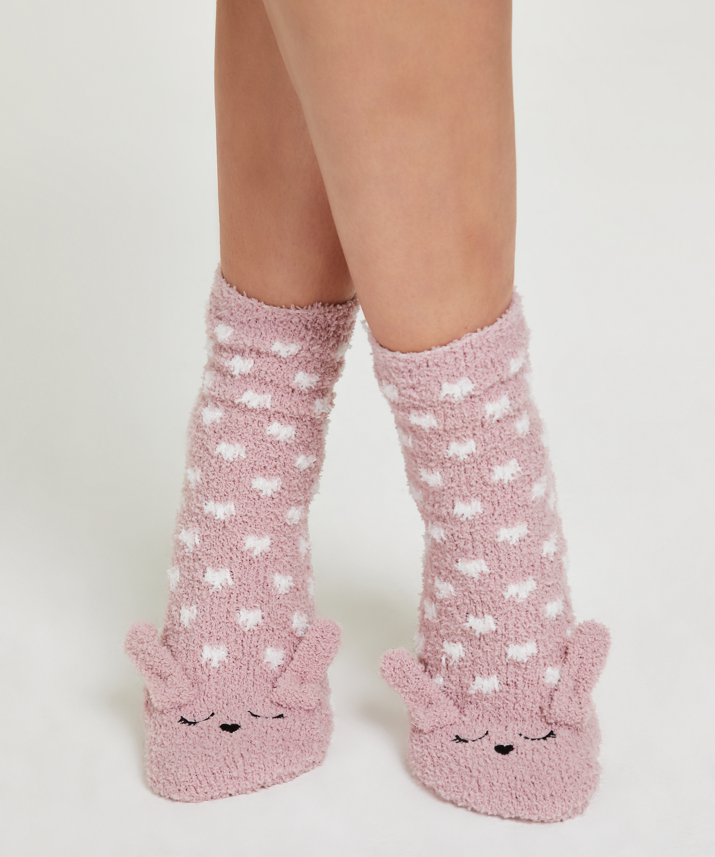 1 pair socks Cosy Bunny, Pink, main