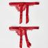 Suspender cuffs, Red