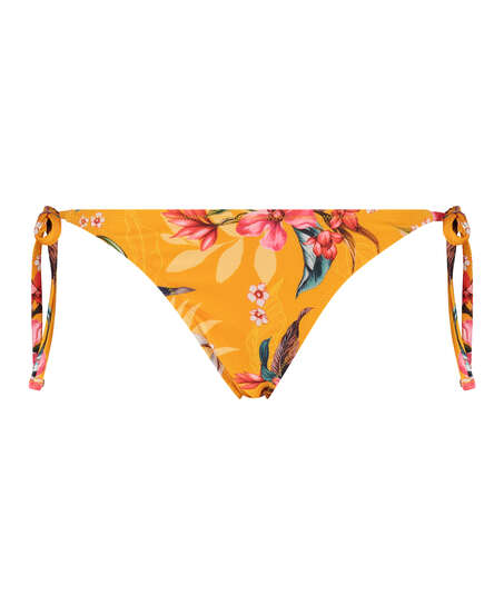 Orchid Brazilian tanga bikini bottoms, Yellow