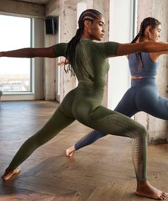 HKMX Karma Seamless High Waisted Legging, Green