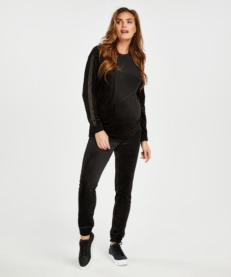 Velvet Shimmer maternity top, Black