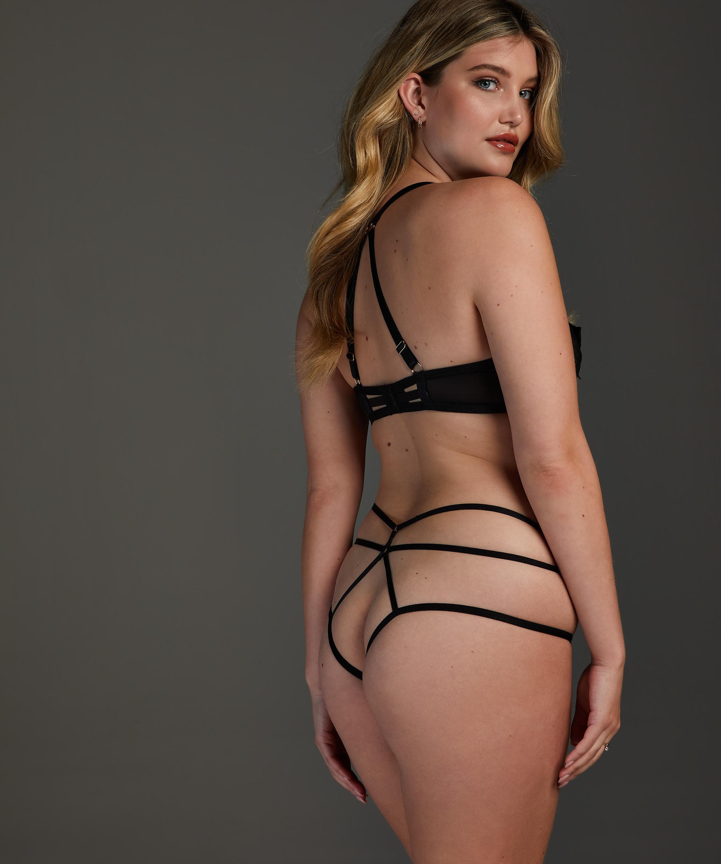 Effie non-padded underwired bra, Black, main