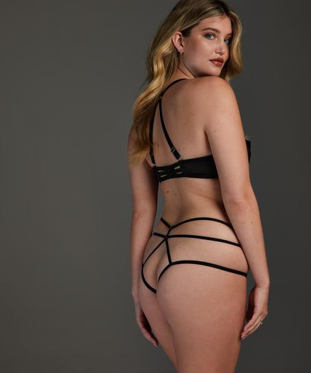 Effie non-padded underwired bra, Black