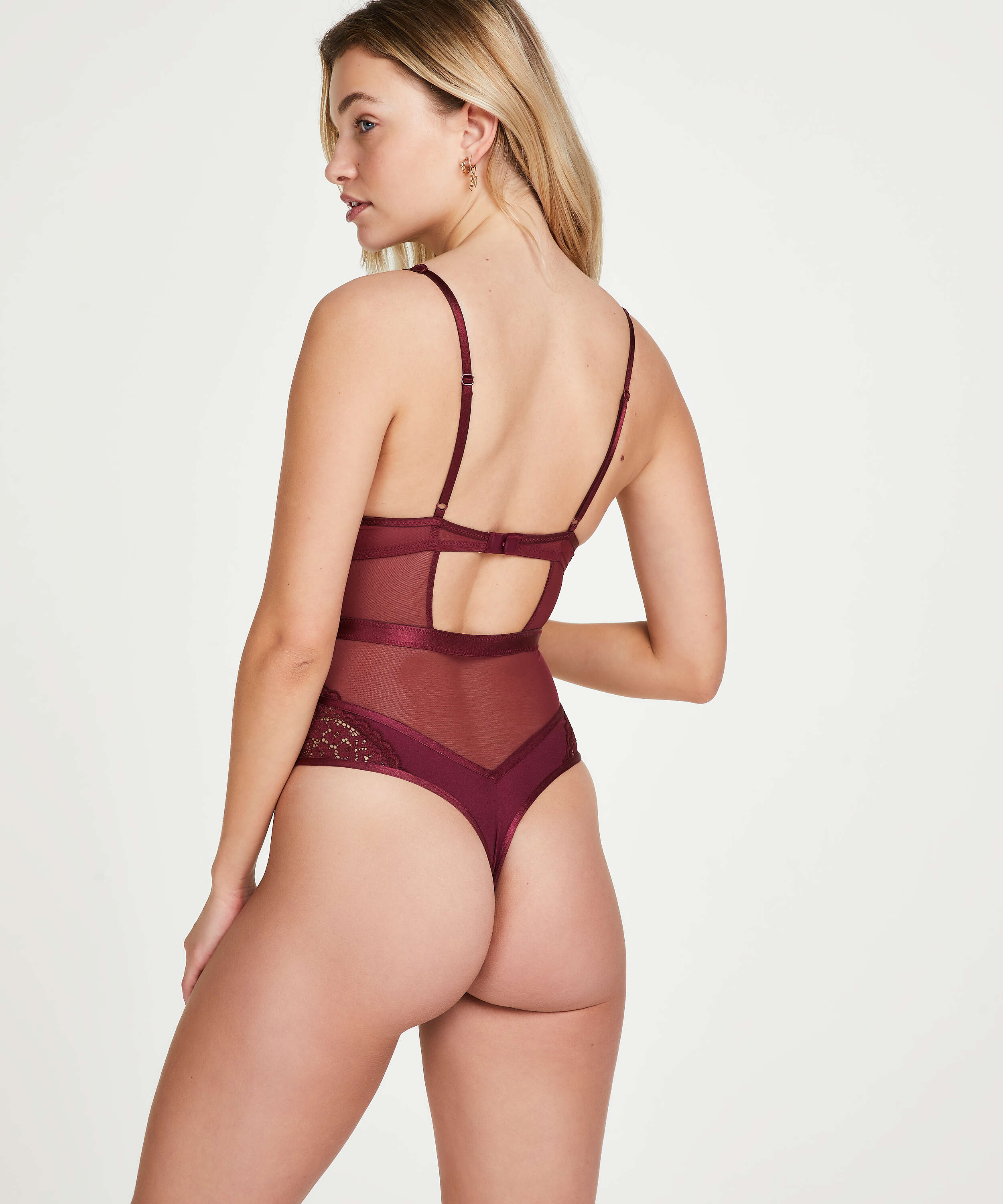Rose underwired body, Red, main